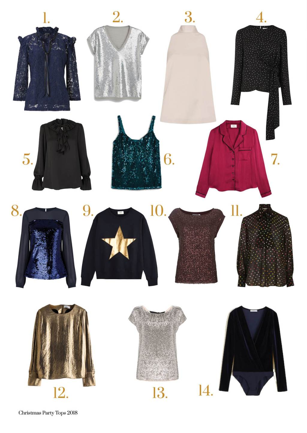 Midlifechic Christmas edit - party tops