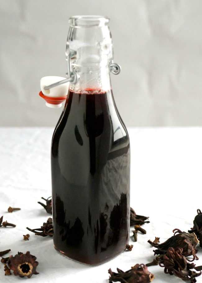 Refreshing sorrel {or hibiscus} simple syrup recipe. So many uses!