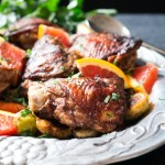 An easy, 5-ingredient marinade sets this 5 Spice Chicken Thighs dinner recipe apart from your averge weeknight dinner. Paleo, Whole30 and Gluten Free.