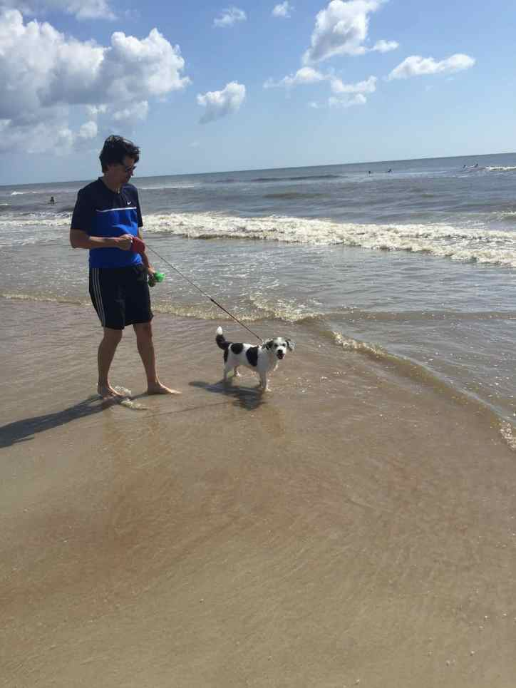 June - Family Vacation at St. Augustine. One dog loved the ocean and the other was terrified of it. Just like still having kids :)