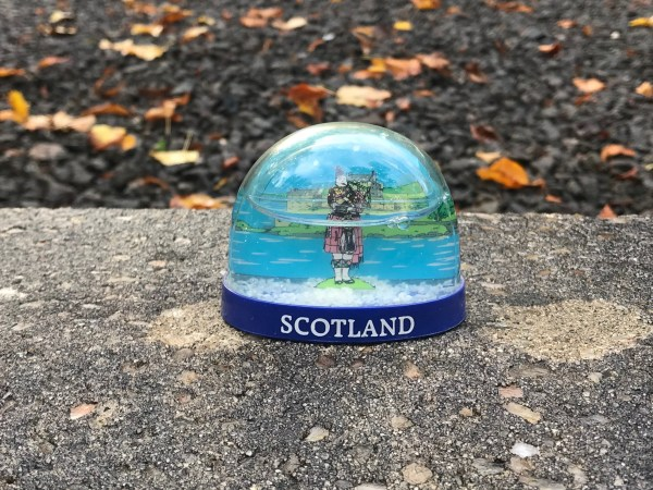 Scotland Snow Globe from a Collection of Snow Globes