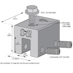 S-5-S Universal Clamp for Snow Retention