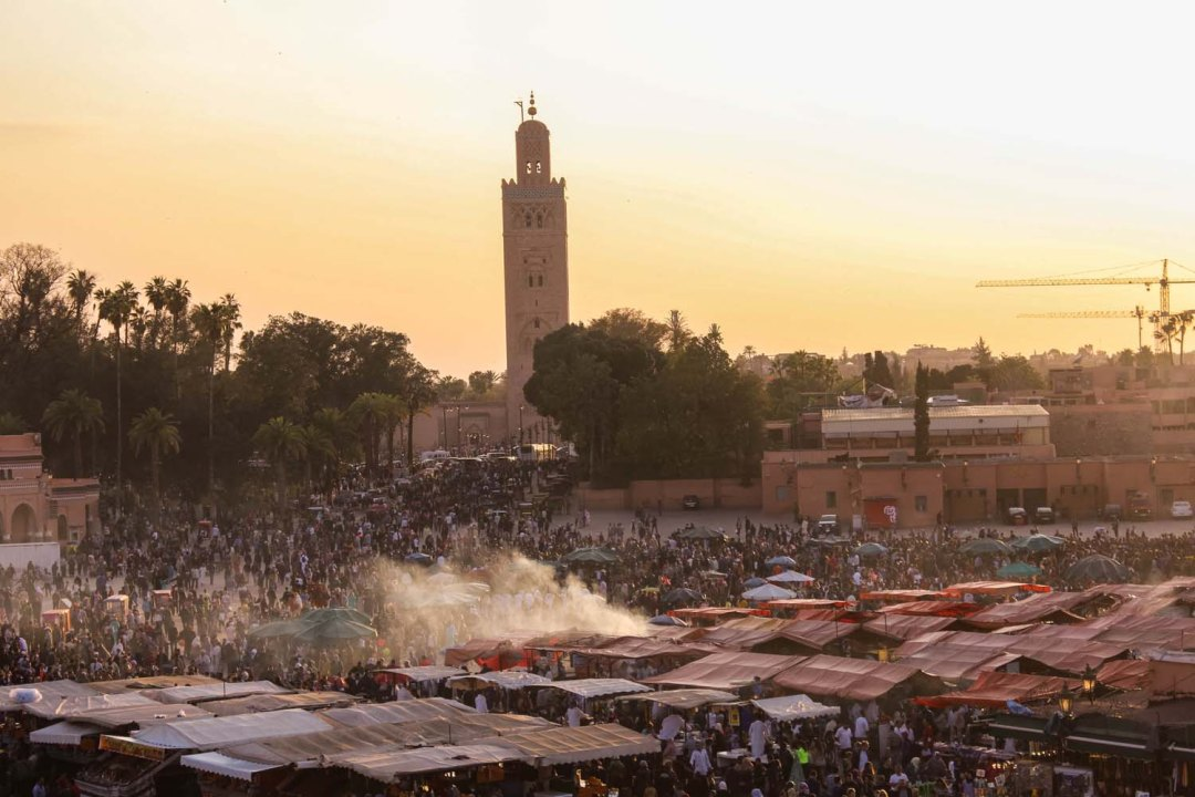 Sunset over Jemaa el Fna, Marrakech