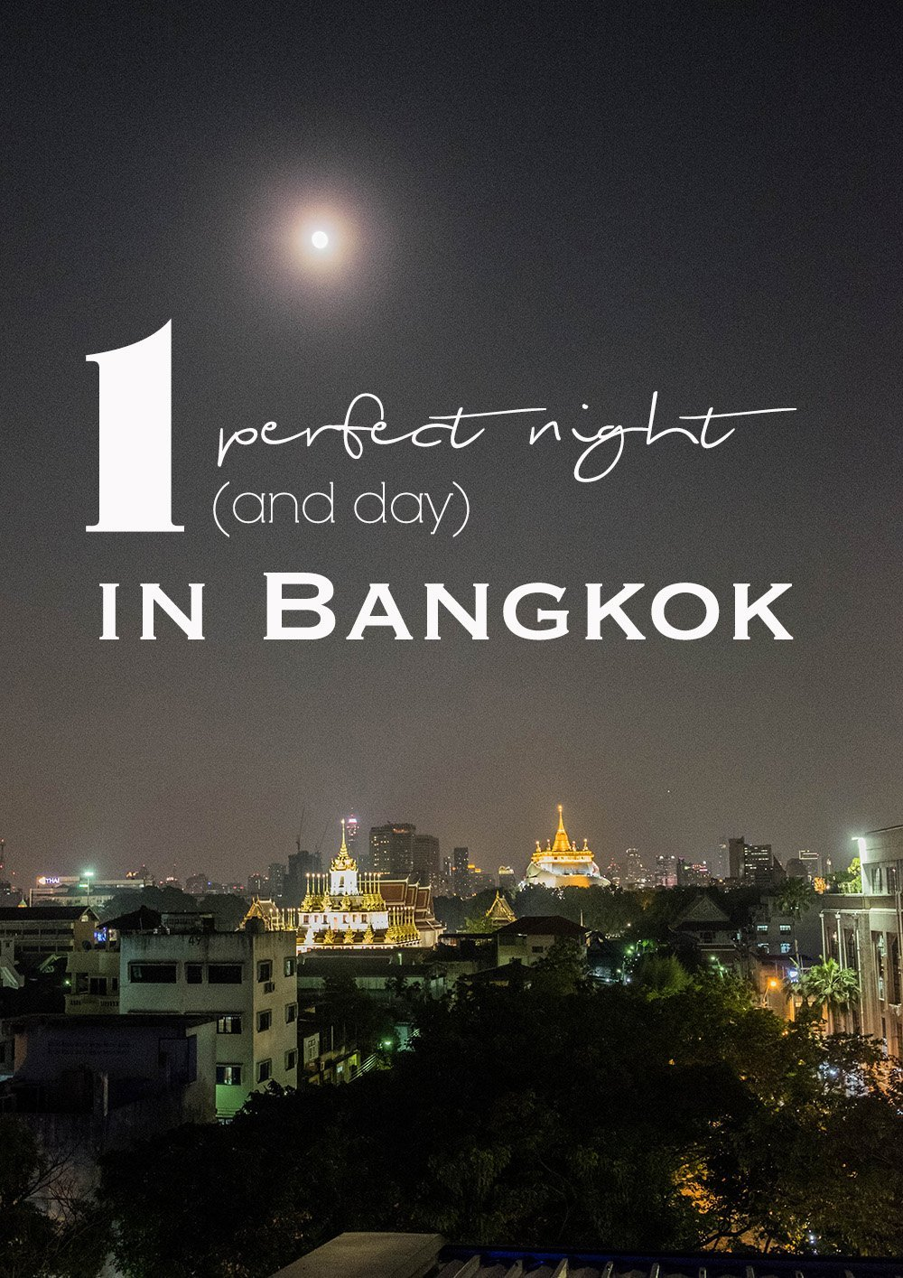 Do you have only one night in Bangkok? And hopefully a day too?! I will show you how to make the most of it with the perfect Bangkok itinerary for 24 hours in Thailand's capital.  #bangkok #thailand #siam