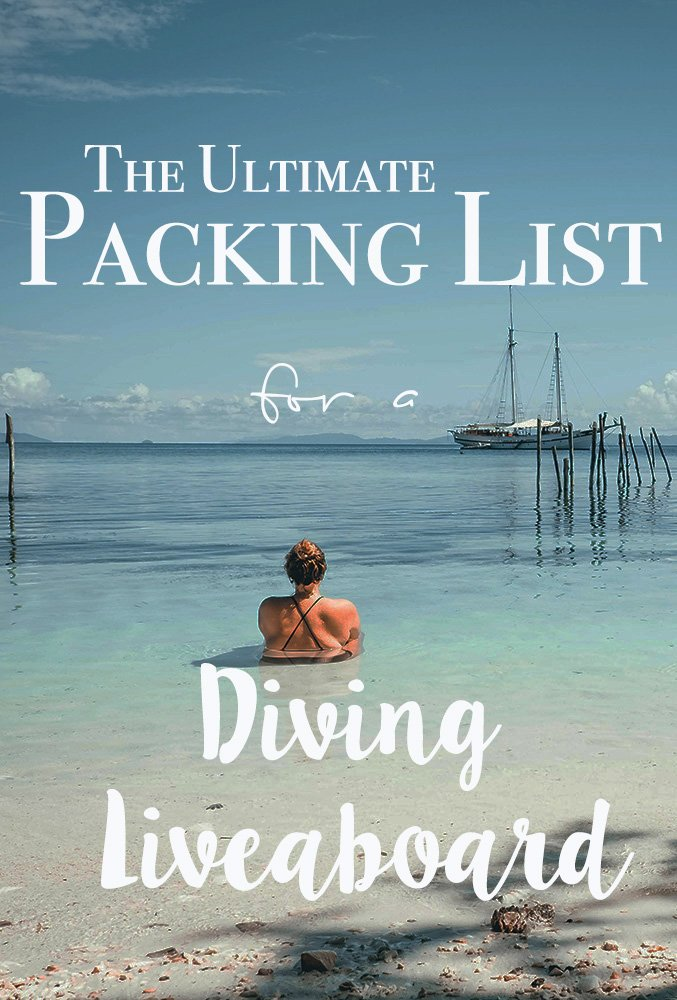 Heading scuba diving and not sure what to pack for a week sailing the Seven Seas? Check out my ultimate liveaboard packing list for mermaids. #scubadiving #scuba #traveltips #liveaboard #packinglist