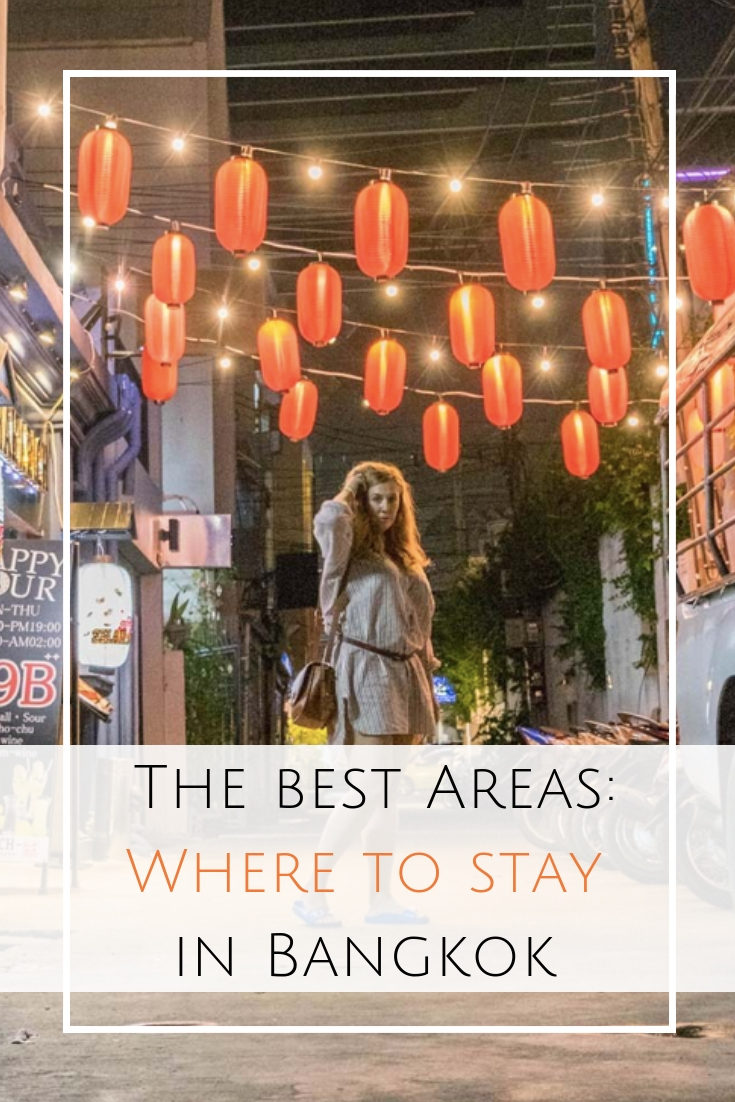 Where to stay in Bangkok, Thailand - My favorite areas for sightseeing, hipsters, history, and foodies in this personal guide from an almost local. #bangkok #thailand  Best Bangkok Hotels | Which areas to stay in Bangkok | Bangkok Neighborhoods | Which accommodation to book in Bangkok | Bangkok Airbnbs and guesthouses