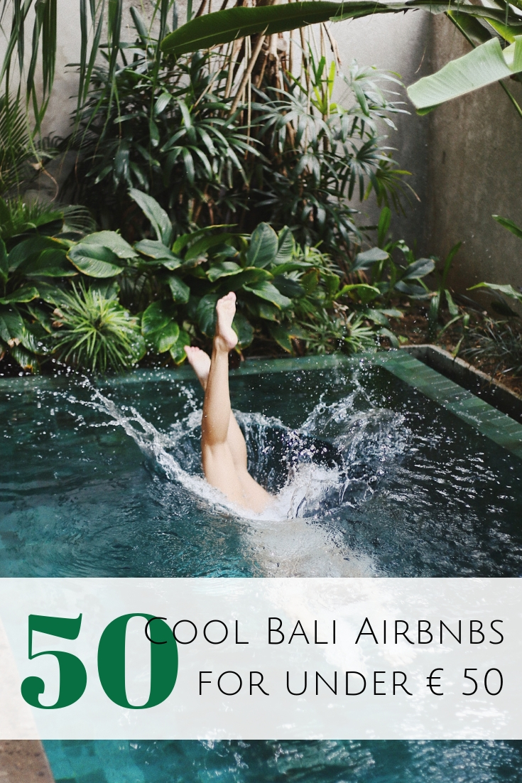 Looking for an alternative to a hotel in Bali? Here are some of my favorite Bali airbnb all over the island and best of all under € 50! #bali #indonesia Where to stay in Bali | The best Airbnbs in Bali | Cheap Bali accommodation | Bali Airbnbs in Canggu | Best Airbnbs in Ubud