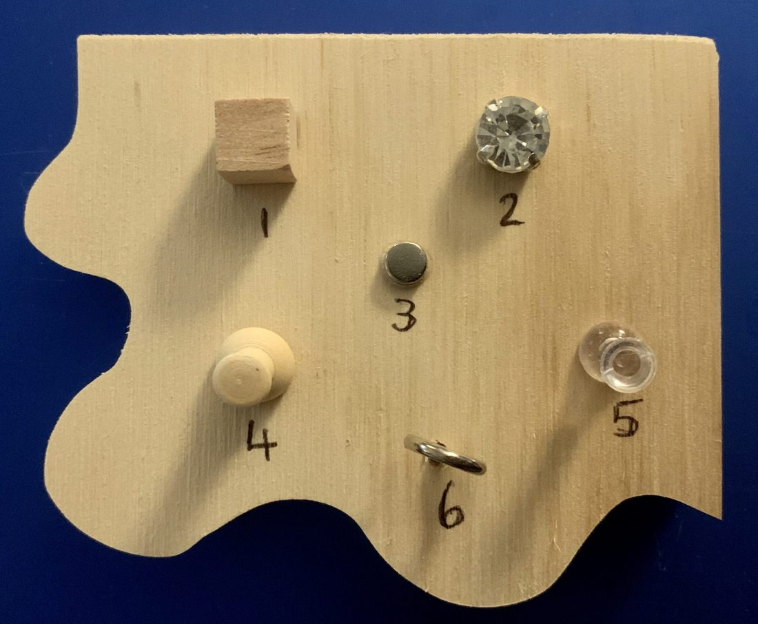 Chunky Jigsaw - 5=Clear Peg Dexterity Embellishments