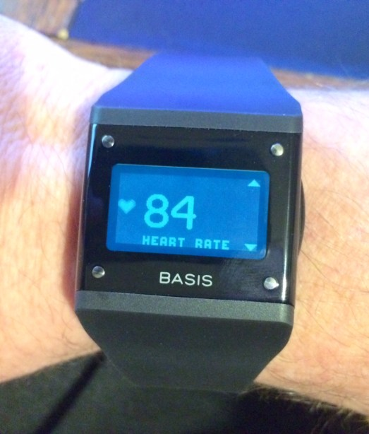 Basis B1 in action (well, on my wrist)