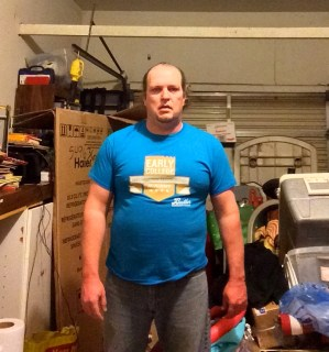 Fat guy transformation (I hope) week 3 of 15 for WHG training. Shirted, gut hanging out, not flexed.