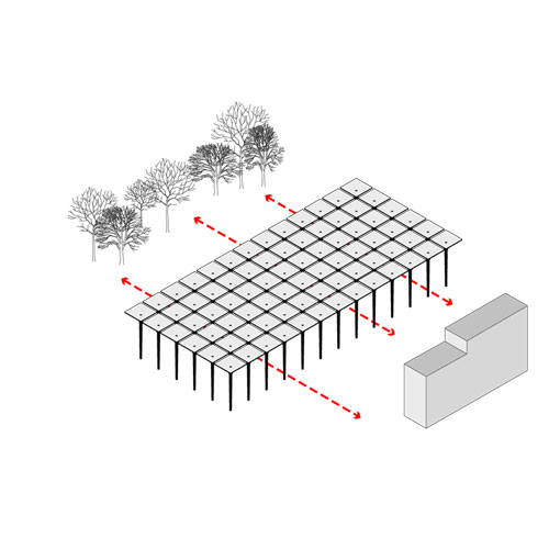Diagram for Liget Museum project in Budapest