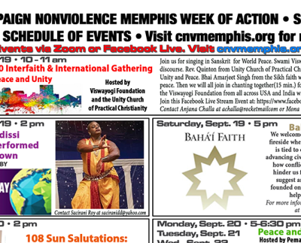 Campaign Nonviolence Memphis – Baha'i Fireside Chat on World Peace