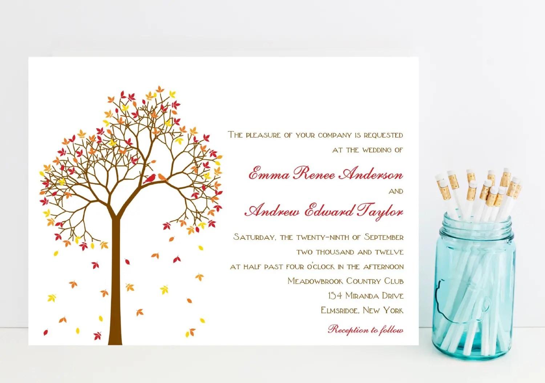 Fall Wedding Invitations Mid South Bride