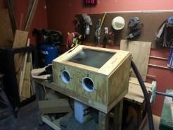 Finished Sandblasting Cabinet