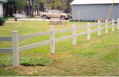 Two Rail Plank Style Fence