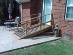 Custom Wood Handicap Ramp
