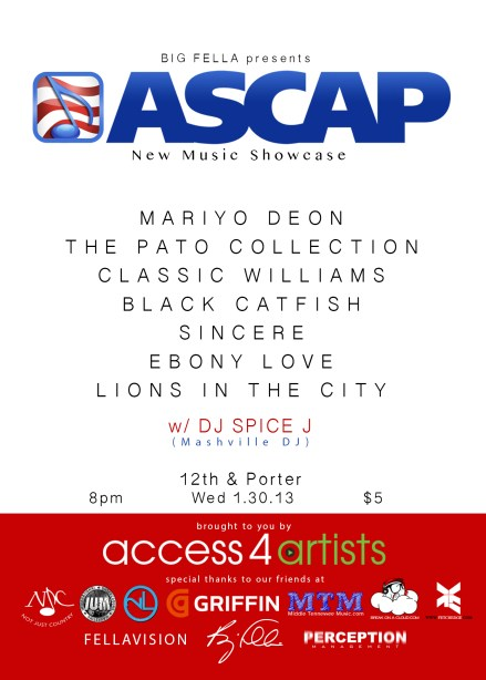 Big Fella Presents ASCAP Music Showcase