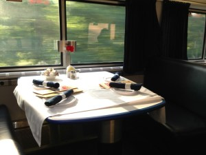 Our Amtrak dining car