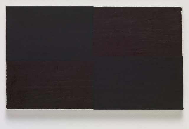 wrap, 2015. Oil on canvas. 16.2 x 27.3 x 2 cm; 6 ¼ x 10 ¾ x ¾ inches.