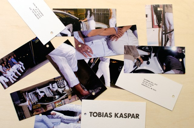 TOBIAS KASPAR, custom photo price tags, 2013.