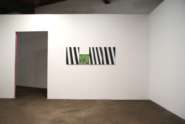 Ann Craven, Untitled, Stripe paintings (August 5, 2008) #1 and #2; Shadow's Moon; Untitled, Stripe painting (August 5, 2008) #3. All works 2008. Courtesy of the artist and Shane Campbell Gallery.