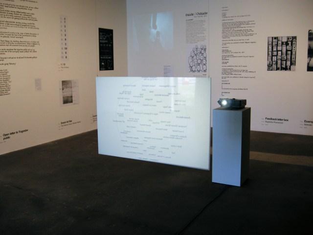 Media Ontology — Mapping of Social and Art History of Novi Sad, installation view.