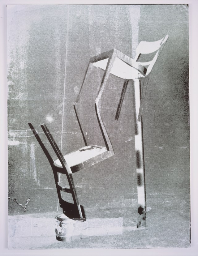 Domäne White, 2004. Digital ink jet and silkscreen enamel on canvas. 36 x 48 inches.