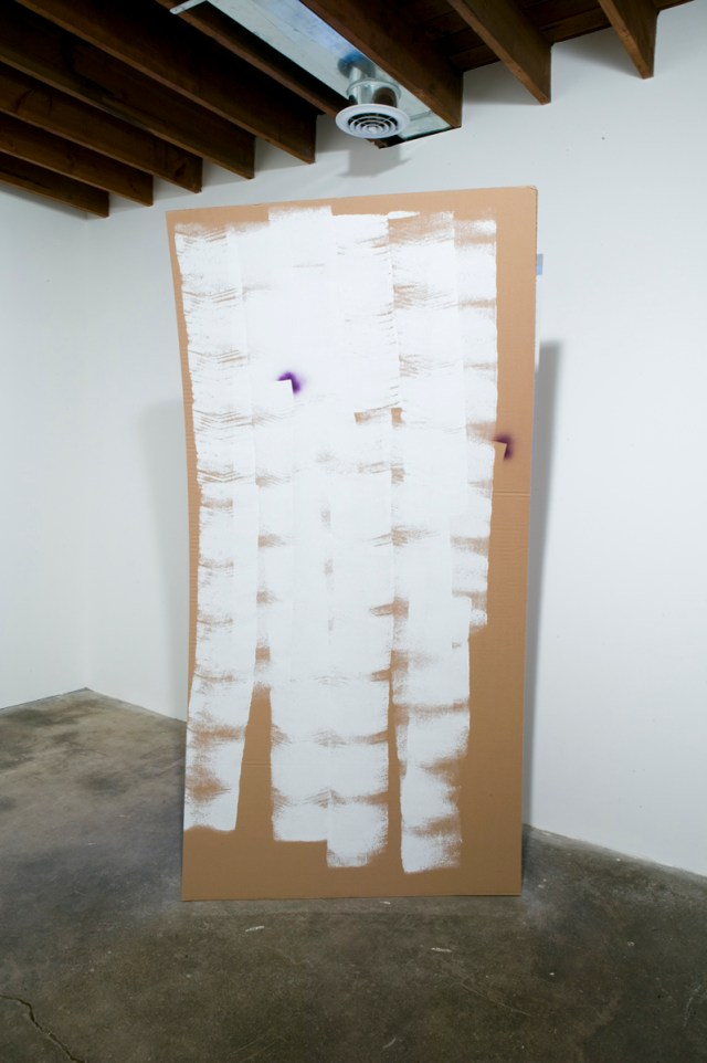 Owla, 2006. Cardboard, hollow-core doors, latex paint, spray enamel.