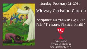 Sermon banner, February 21, 2021
