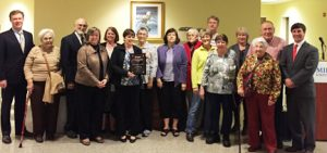 Pastor McColl and church members with Community Spirit Award