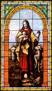 Jesus, The Good Shepherd window