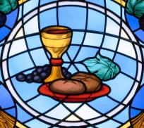 Communion Elements as Stained Glass Window