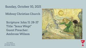 Sermon Banner-October 10, 2021