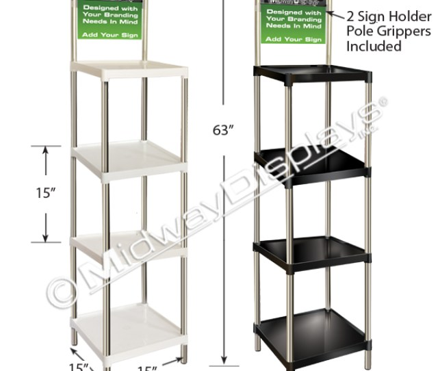 Square Tray Floor Display Stacking  Tier Merchandiser Strong And Sturdy