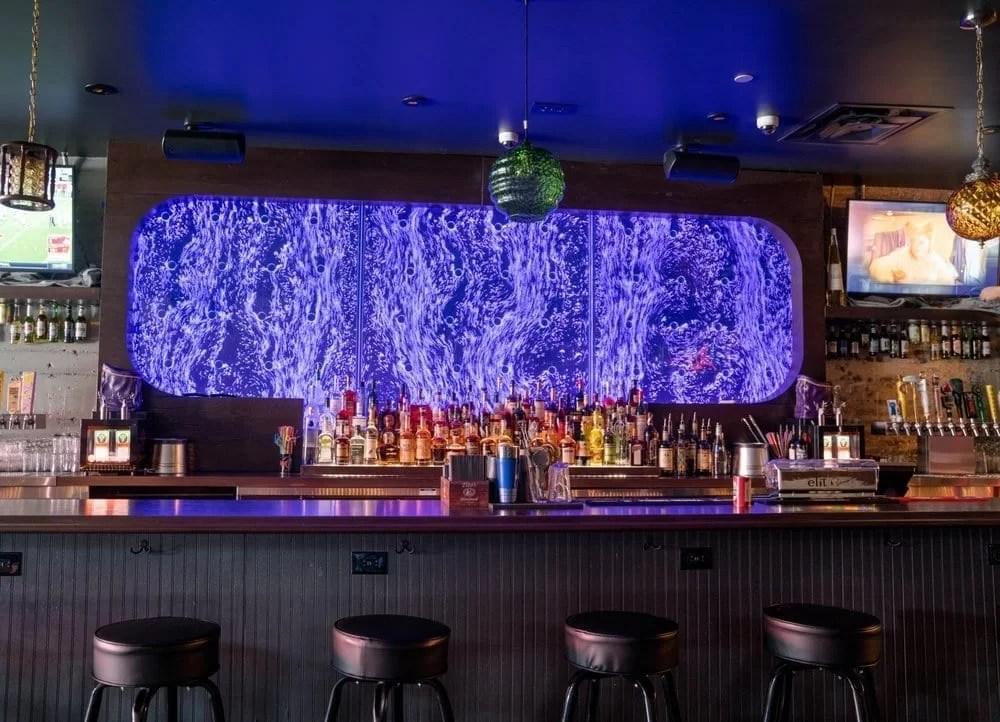 Bubble Wall Rod Peg Style Swirley at Courduroy Bar in Las Vegas Nevada