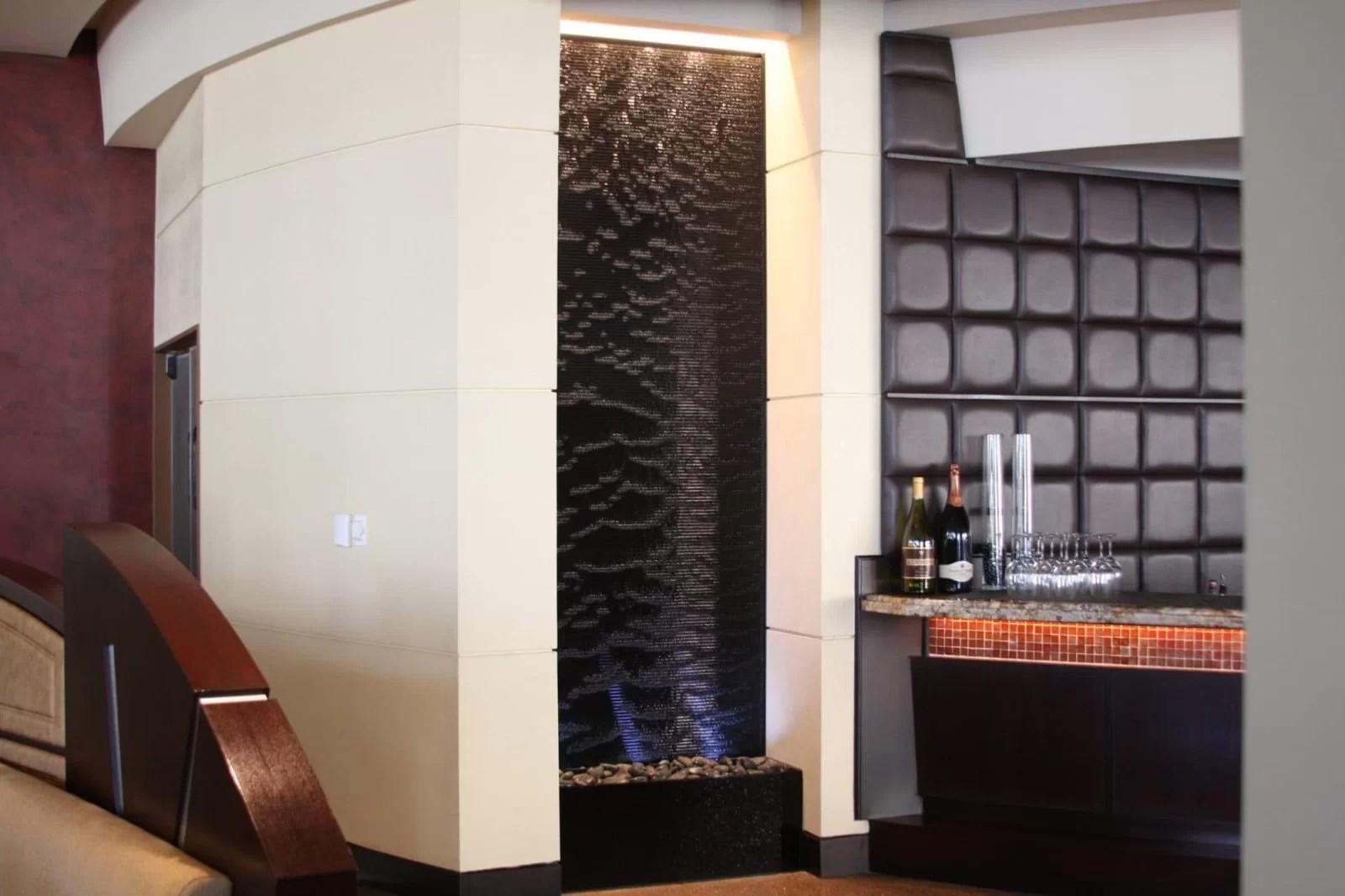 Sheraton Hotel Pheonix AZ black scored acrylic water wall