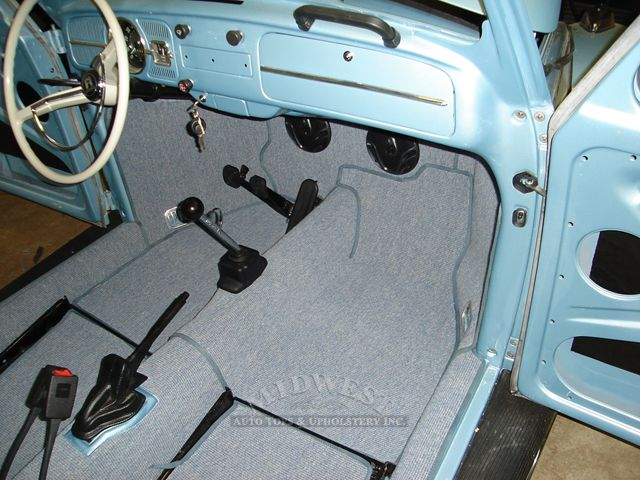 vw bug carpet installation. Black Bedroom Furniture Sets. Home Design Ideas