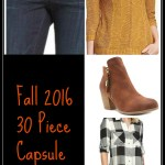 2016 Fall Capsule Wardrobe