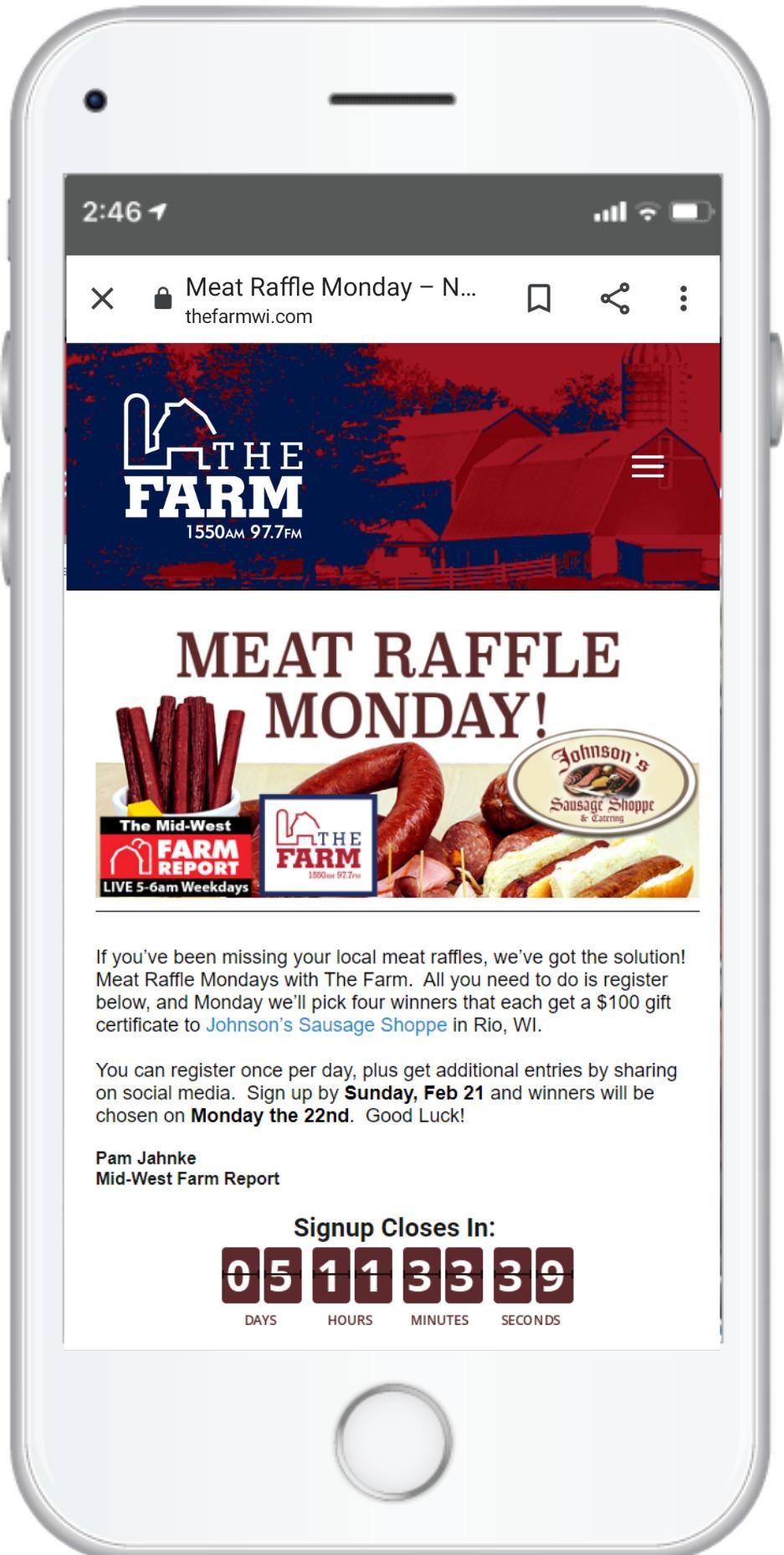 meat raffle mondays