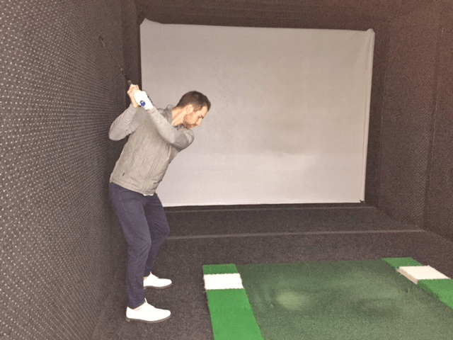 Wall Drill at the top of the swing