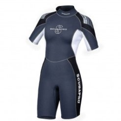 SCUBAPRO 2.5 MM WOMEN'S SHORTY WETSUIT ICE CLOSEOUT