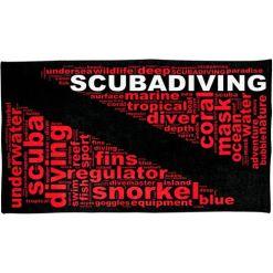 Scuba Diving Flag Towel
