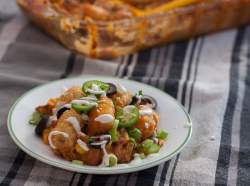 Midwexican tater tot hot dish with all the fixings