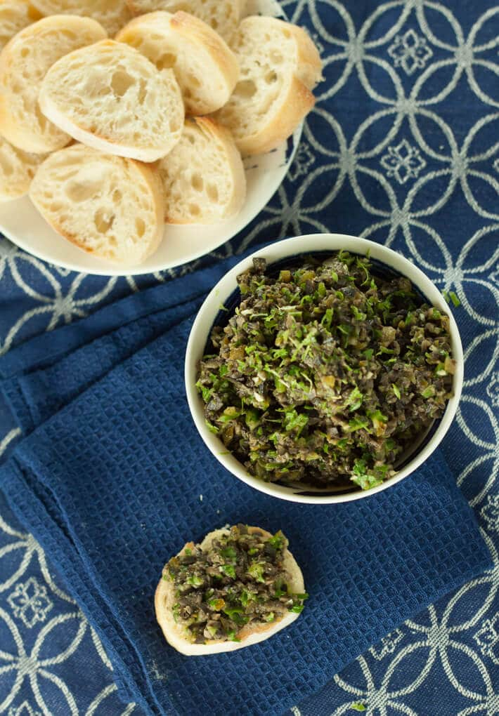 Tapenade with French bread