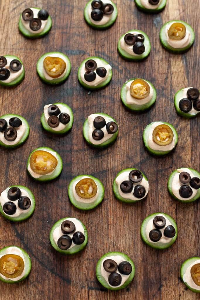 Taco Cucumber Bites