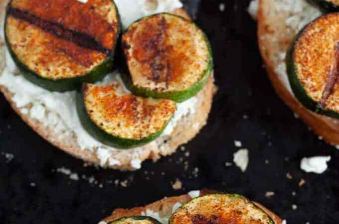 Grilled Zucchini Crostini