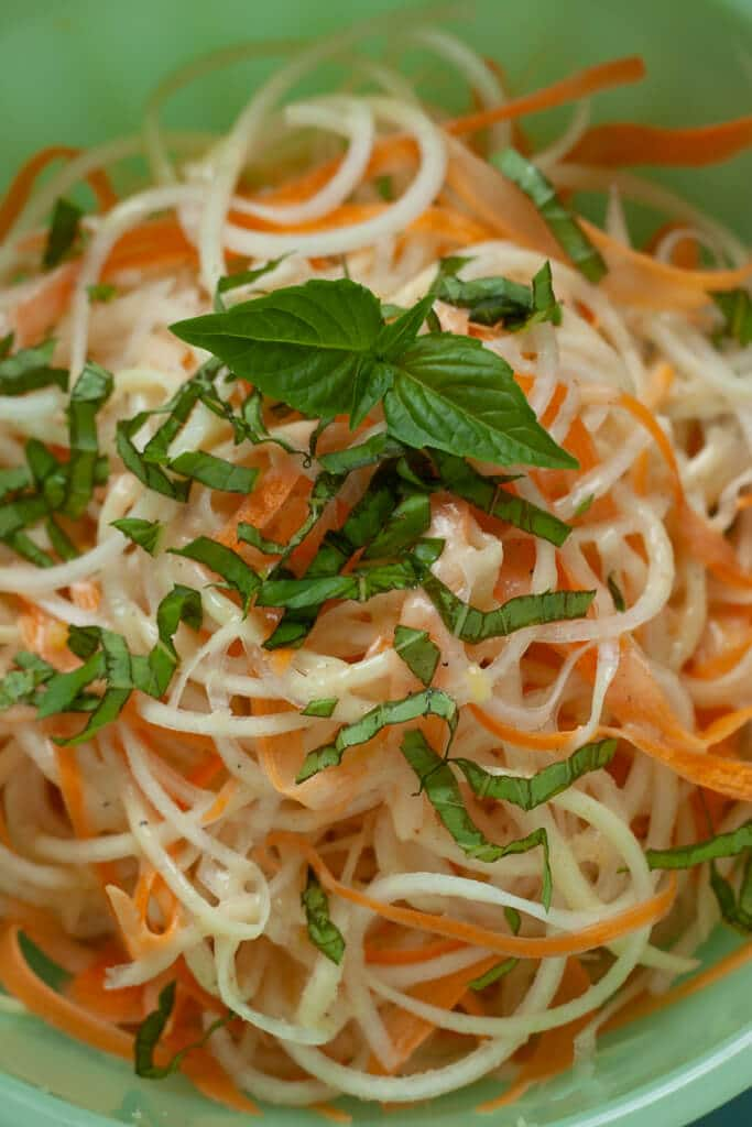 Kohlrabi Slaw with Lemon Vinaigrette