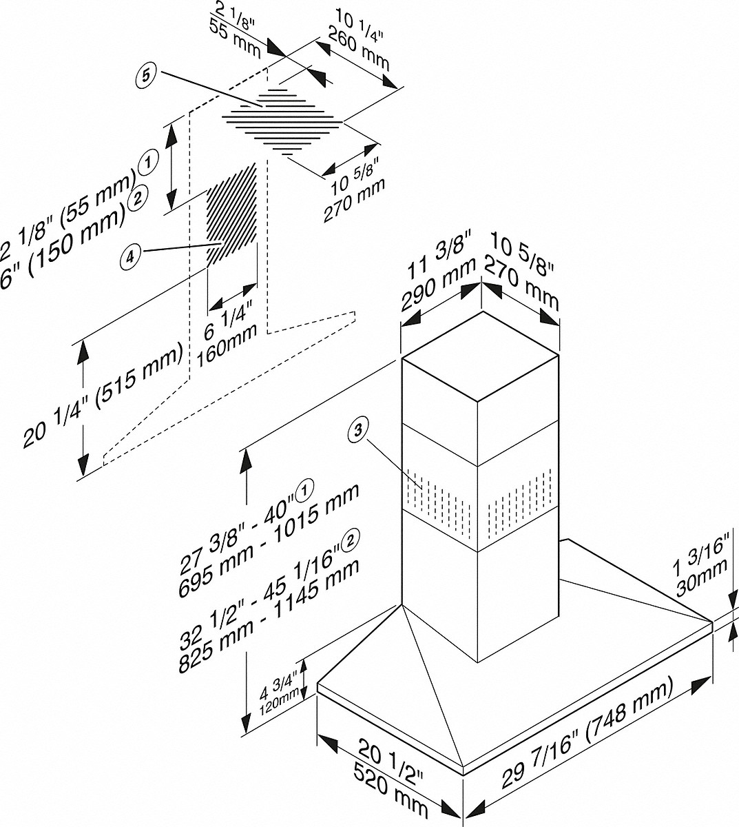 Miele Da 398 7 Classic 30 Inch Wall Mounted Ventilation Hood