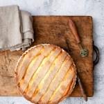 Crostata di segale con ricotta di capra