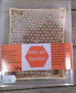 Miel en section
